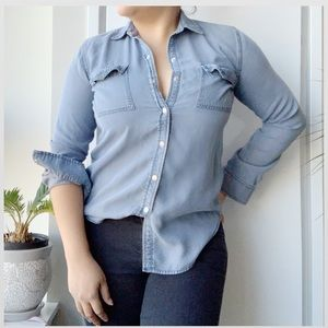 Ann Taylor Super soft Denim Button Down